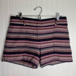 Loft Ann Taylor The Rivera Embroidered Shorts